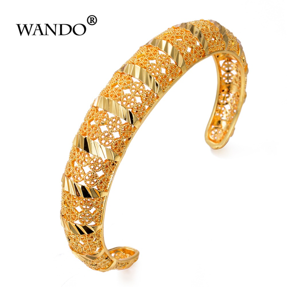 Stainless Steel Jewelry Bangle Bracelet 18K Rose Gold Plated CZ Diamonds Love Bracelet for Women Girls with Gift Box Gold Bangle 6.3 Inches #16