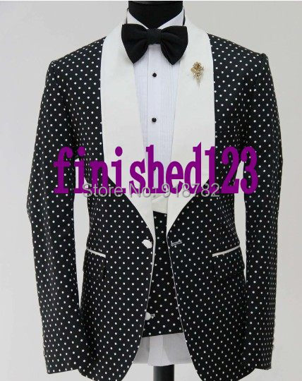 Latest Coat Pant Designs 2017 Custom Made Fashionable Dot Pattern Men Party Tuxedo Slim Fit Suit ...