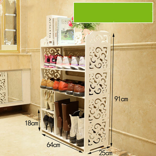 Online Shop European Hollow White Shoe Rack Simple Multi Layer
