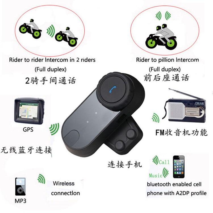 2 pc 800 mètre Bluetooth moto Interphone casque casque Interphone LCD écran FM Radio donner Extra doux écouteur GBR GXSG CB190
