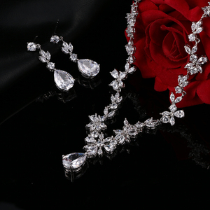 Image 3 - EMMAYA Brand Gorgeous AAA CZ Stones Jewelry Set White Crystal Flower Party Wedding Jewelry Sets For Women
