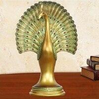 Peacock rzeźba rękodzieła, styl Azji południowo-wschodniej, dekoracje domu, prezenty ślubne