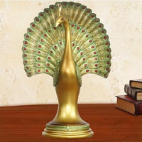 Peacock sculpture handicrafts, Southeast Asian style, home decorations, wedding gifts