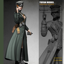 Yufan Model 1/24 Resin Kits  Soldier Womens Officer Colorless and Self-assembled 75mYfww-1998
