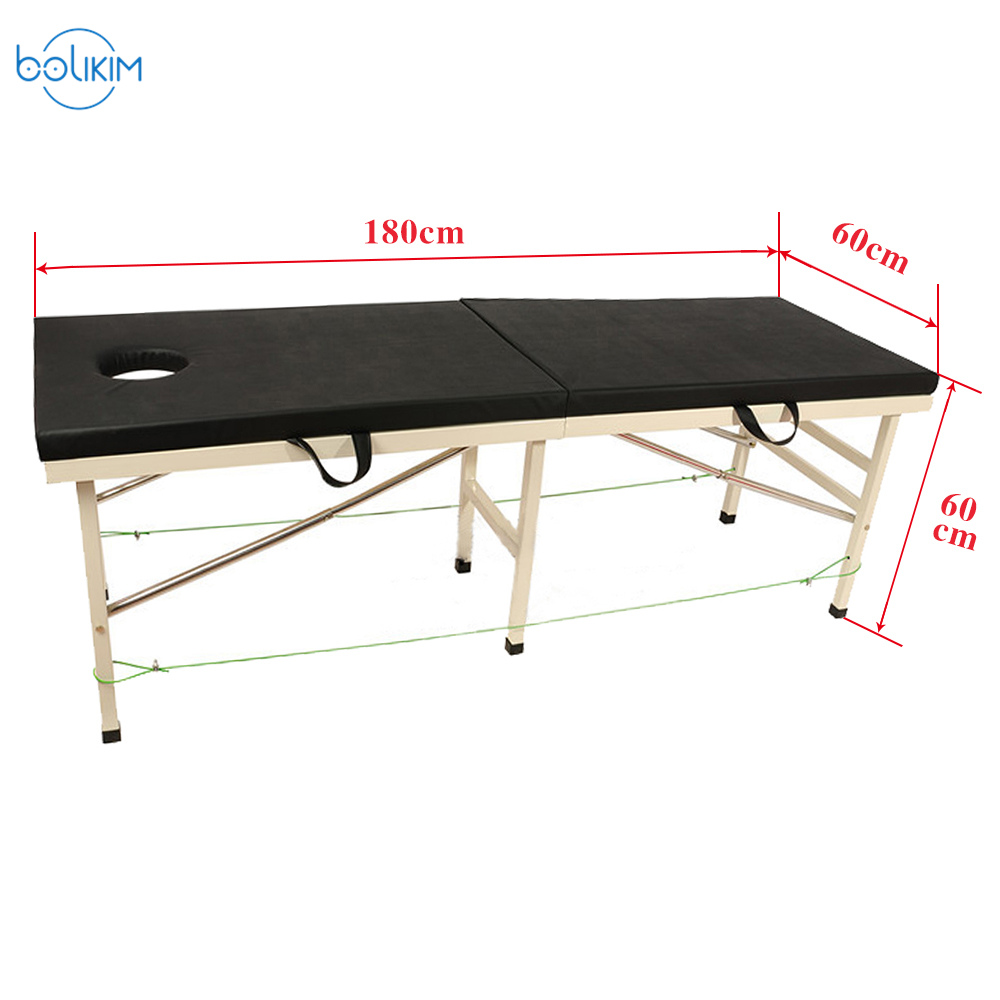 BOLIKIM Portable Folding Carring Bag Professional Adjustable Spa Therapy Tattoo Beauty Massage Bed For Massage Vacuum Cupping 2015 new design high quality cheap folding wooden massage tables massage beds beauty beds spa beds