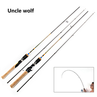 1 68M 1 8M Fishing Spinning Rod Spinning Fast Canne Casting Baitcasting Rod 2 Sections Carbon