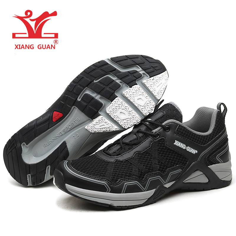 Xiang Guan brand 2017 men's sport running shoes Anti-skid breathable mesh outdoor athletic sneaker size 39-45 kelme 2016 new children sport running shoes football boots synthetic leather broken nail kids skid wearable shoes breathable 49