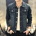 New Design Fashion Denim Jacket for Men Male  Plus Size Denim Coat Outwear Tops Cowboy Wear jaquetas#JJCC1523