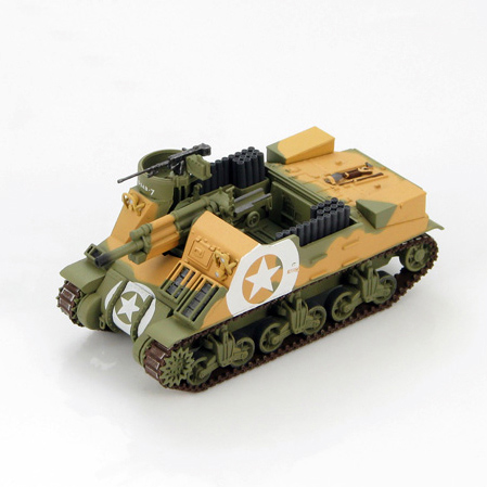 HM 1/72 HG4707 World War II US military Pastor M7 self-propelled artillery 2nd Armored Division Sicily 1943 Favorites Model world war 1