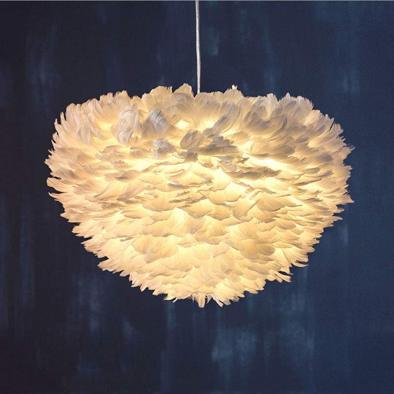 Us 39 99 Modern Feather Pendant Light Contemporary Italian Design Goose Hanging Lamp Fancy Home Lights Villa Restaurant In