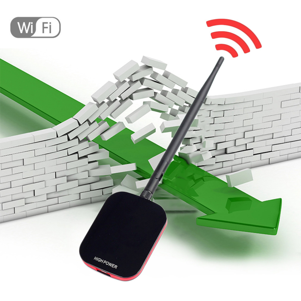 High Power Speed N9000 Free Internet Wireless USB WiFi Adapter 150Mbps Long Range + Wi fi Antenna Wi-fi Receiver image