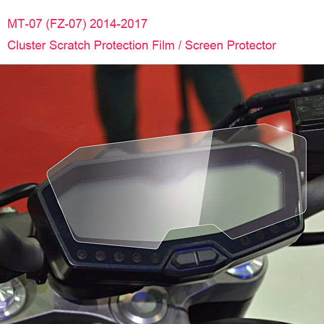 New For Yamaha MT-07 FZ-07 MT07 Cluster Scratch Protection Film Screen Protector for Yamaha FZ07 MT 07 2014 2015 2016 2017