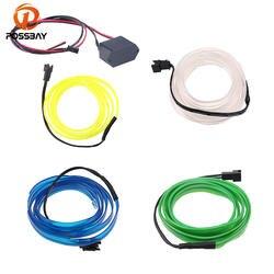 POSSBAY 4 м EL провода с трансформатором свечение EL трос Трубка прокладки кабеля неоновые огни 10 Цвета Универсальный