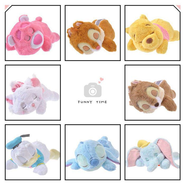 50CM Lying Sleeping Stitch Chip Dale Marie Cat Daisy Donald Duck Dumbo Bear Stuffed Animals Plush Toy for Children