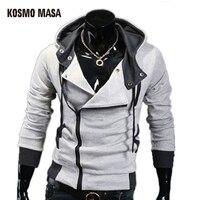 2015 Autumn Winter Fashion Casual Slim Cardigan Assassin Creed Hoodies Sweatshirt Outerwear Jackets Free Shipping MHS0002