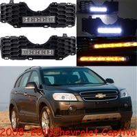 car bumper headlamp for Chevrolet Captiva daytime Light 2008 2009 2010y LED DRL headlight for Captiva fog light