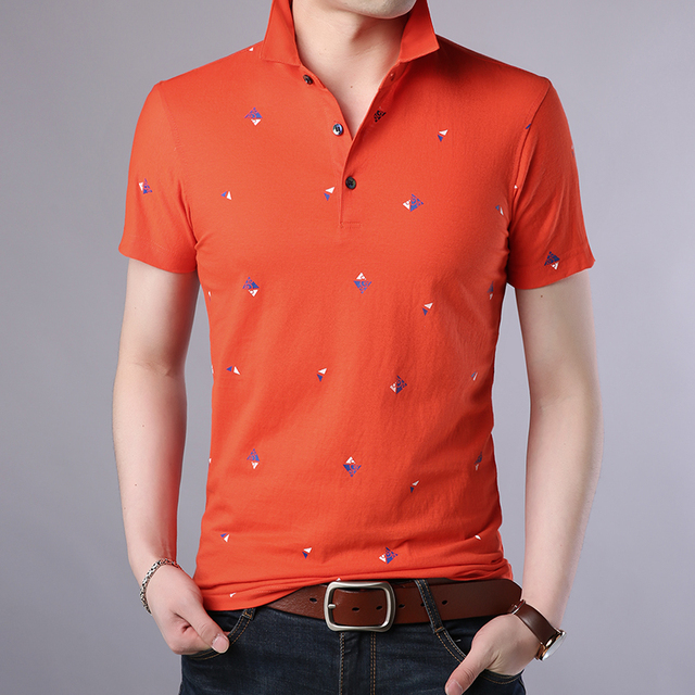 2018 New Fashion Polo Shirt Men Breathable Mens Polo Slim Fit Summer Shirts With Short Sleeve Turn Down Collar Brand Clothing 2