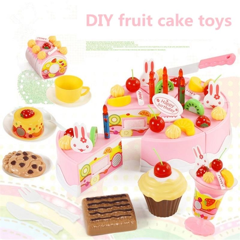 Awesome 75Pcs Birthday Cake Toy Diy Fruit Cream Christmas Gift Set Funny Birthday Cards Online Drosicarndamsfinfo