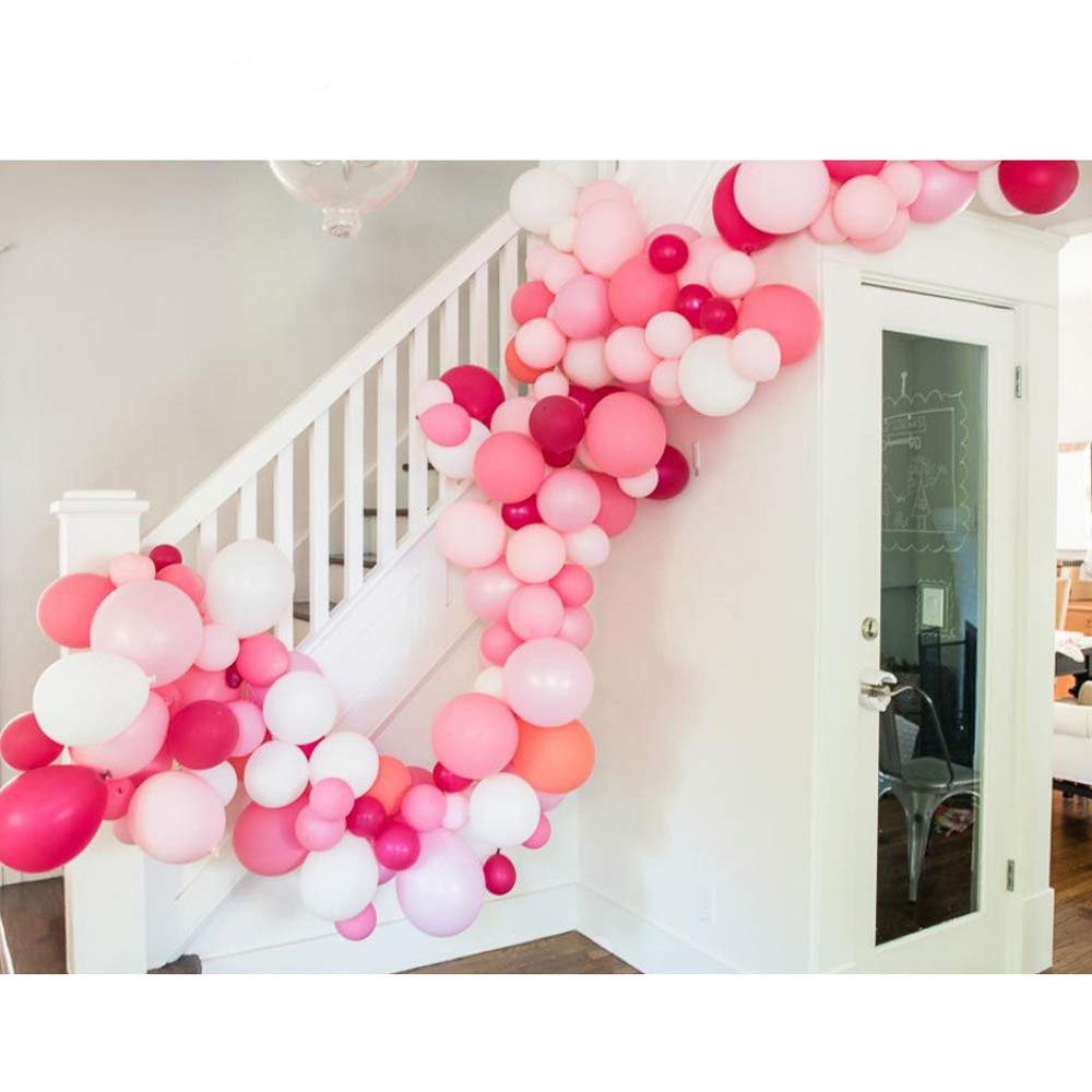 METABLE 100Pcs 10In Hot Pink Round Balloon Macaron for Party Decoration Birthday Wedding Baby Shower supplies
