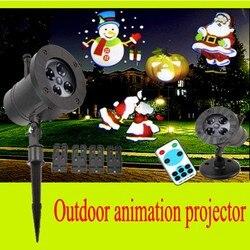 Wodoodporna zewnętrzna lampka led projektor laserowy na trawnik ogrodowy lampa krajobrazowa dekoracja wnętrz boże narodzenie nowy rok reflektor lampka nocna
