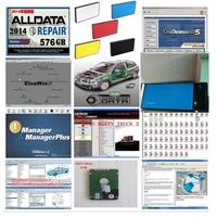 2017 New Alldata auto repair all data 10.53 software with mitchell ondemand 2015 software ect25in 1tb hdd heavy truck vivid data