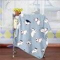 100*75 cm Teste Padrão Do Cão Do Bebê Recém-nascido Flanela Receber Cobertor Swaddle Infantil Suprimentos de Cama Da Criança Macio Envoltório Swaddling