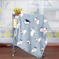 100*75cm Dog Pattern Newborn Baby Receiving Blanket  Swaddle Infant Bedding Supplies Toddler Soft Flannel Swaddling Wrap
