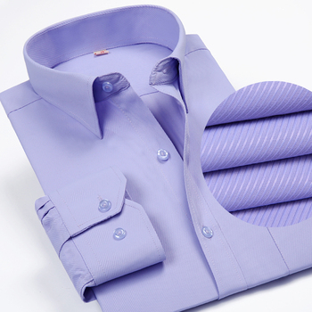 Solid Color Turn-Down Collar Formal Shirts