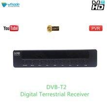Vmade 2019 Лидер продаж HD 1080 P ТВ тюнер DVB-T2/T цифрового ресивера телеприставки Поддержка H.264 MPEG-2/4 Youtube PVR