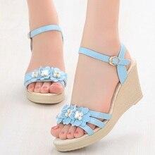 Big Size 32-44 New Summer Women's Sandals Peep-Toe Shoes Wom