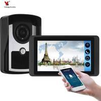 7 zoll WIFI IP Video Tür Sprechanlage Drahtlose Tür Glocke Tür Lautsprecher Access Control System Touchscreen-in Videosprechanlage aus Sicherheit und Schutz bei