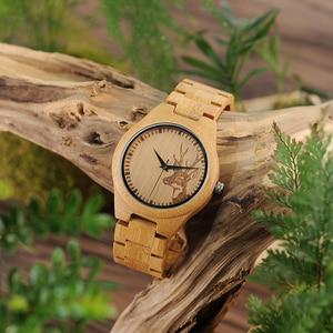 Image 5 - BOBO BIRD WD28 Full Bamboo Wooden Watch for Men Hot Elk Deer Head Story Designer Brand Quartz Wrist Watches in Gift Box