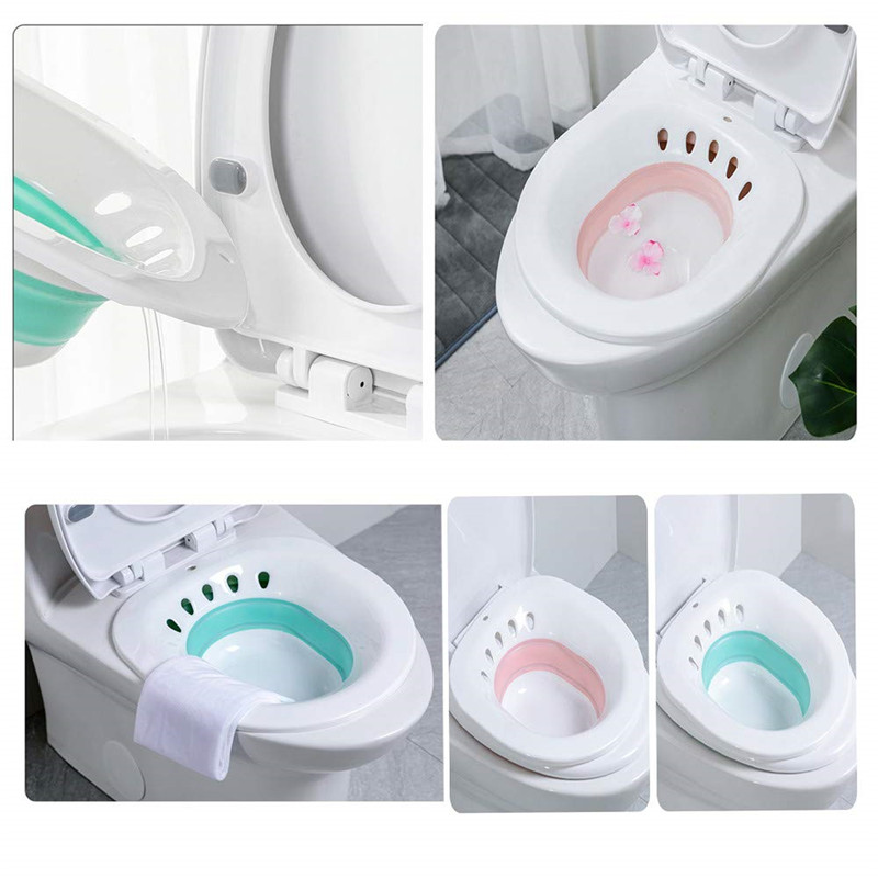 TTLIFE Foldable Non Squat Pregnant Hemorrhoids Relief Bidet Postpartum Tub Band Flush Wash Device Toilet Seat Toilet Decoration in Toilet Seat Covers from Home Garden