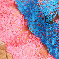 1 Yard French Embroidery Mesh Net Tulle Lace Fabric Clothing Accessories DIY Embroidery Polyester Silk African