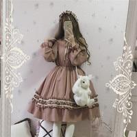 sweet lolita dress kawaii girl retro palace Victorian dress princess tea party gothic lolita op long/short sleeve cos loli op