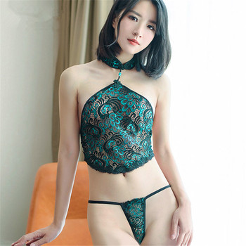 Plus Size Lingerie Sexy Hot Erotic Peacock Lace Babydoll With Thong Women's Underwear Women Sex Products Sexy Costumes 2