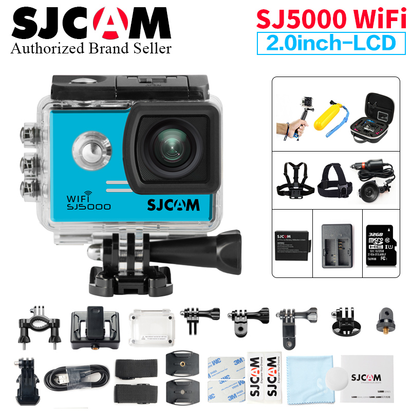 цена на SJCAM SJ5000 WiFi Action Camera 1080P Full HD Sports DV 2.0 inch Diving 30M Waterproof mini Camcorder Original SJ 5000 Sport Cam