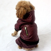 New Pet Dog Winter Clothes Warm Coat And Jacket Leather Detachable Two Piece Four Legs Dog