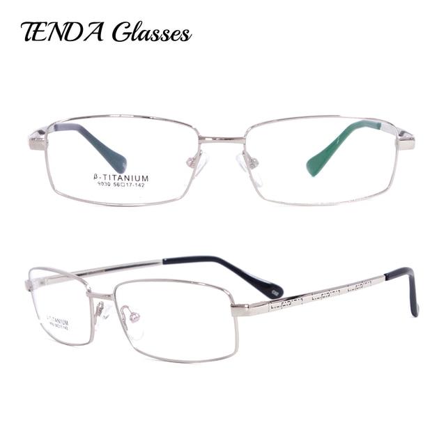 Armações de óculos de titânio Flexível Retangular Óculos Homens Óculos de  Prescrição de Óculos Progressivos 90ac41c10c