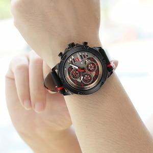 Image 5 - NAVIFORCE メンズウォッチトップブランドの高級 3Bar 防水日付クォーツ時計男革スポーツ腕時計男性防水時計