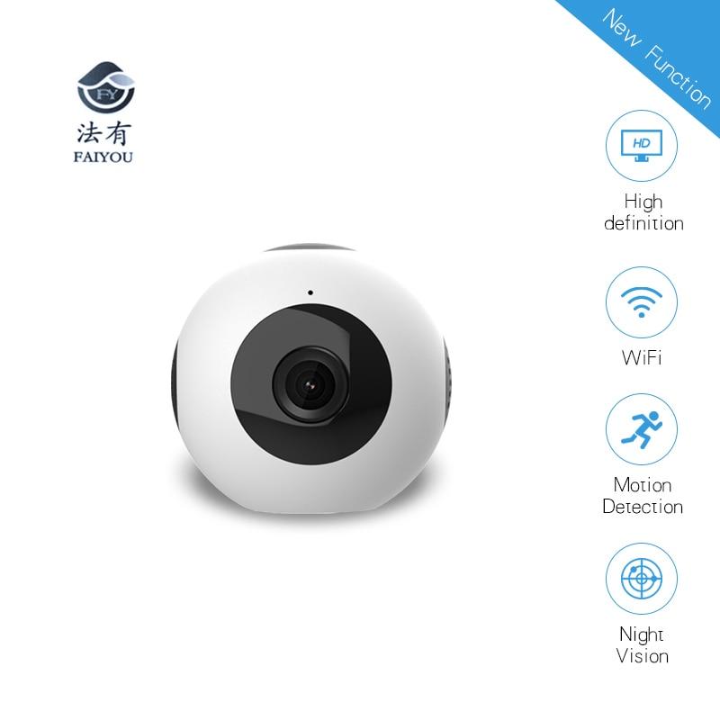 цена на Mini WIFI HD Camera H.264 IP Sports Camera Wide Angle 150 Deg P2P Camcorder Night Vision Home Store Office Security Surveillance