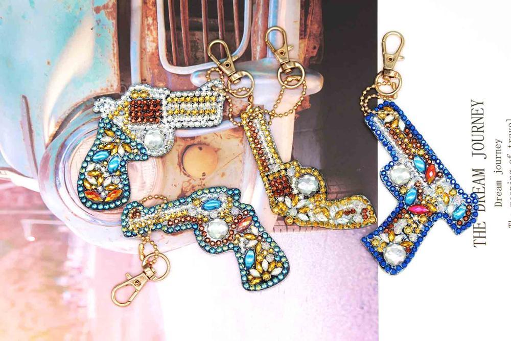 1/6pcs 5D DIY Diamond Painting Keychain Full Drill Cartoon Gun Rhinestone Painting Home Car Bag Hanging Pendant Decor YSK22-in Diamond Painting Cross Stitch from Home & Garden on Aliexpress.com | Alibaba Group