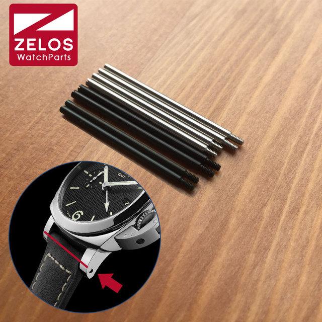 31/33mm tubo Parafuso bar Para Panerai PAM relógio de borracha/correia de Couro Pulseira Pulseira de relógio Banda lug haste