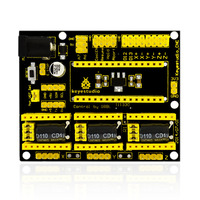 NEW Keyes CNC Shield V4 0 3 Axis Stepper Motor Drive Board Compatible With Arduino Nano