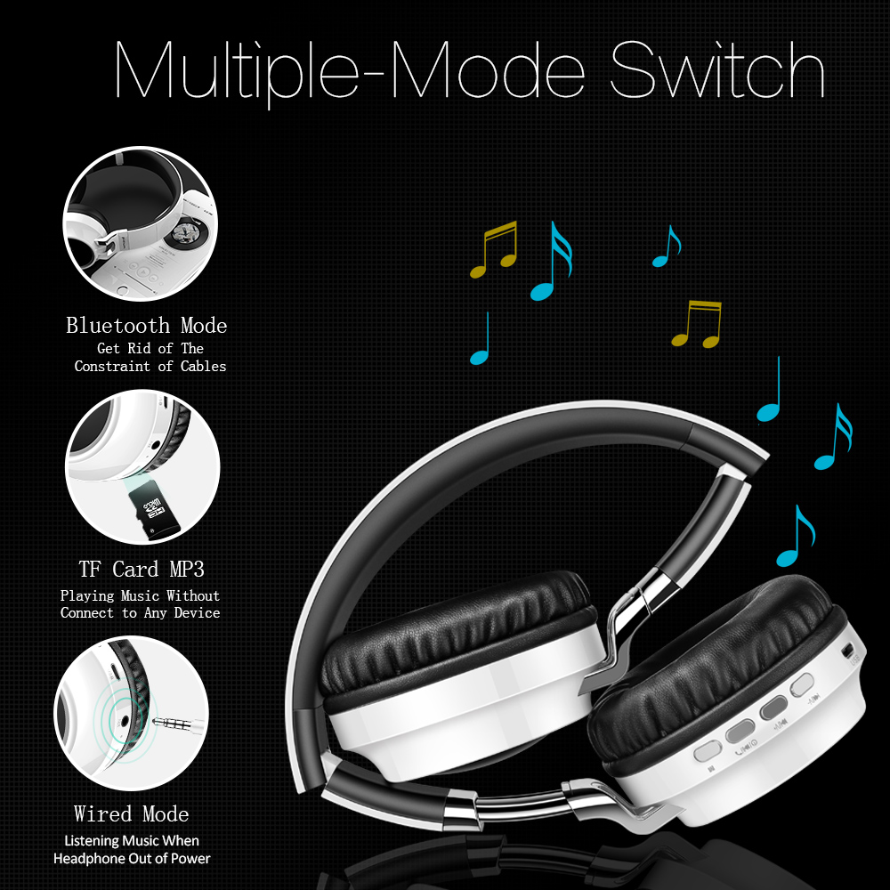 P60 Wireless Headphones Bluetooth Headphone Support 7 Colors Glowing 24 Hours Working Time MP3 Player With MIC For Phone PC