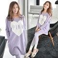 Nova Primavera Outono Vestido Com Calças Plus Size Roupas para Mulheres Grávidas Maternidade Vestidos de Roupas para A Gravidez Roupa Gestante