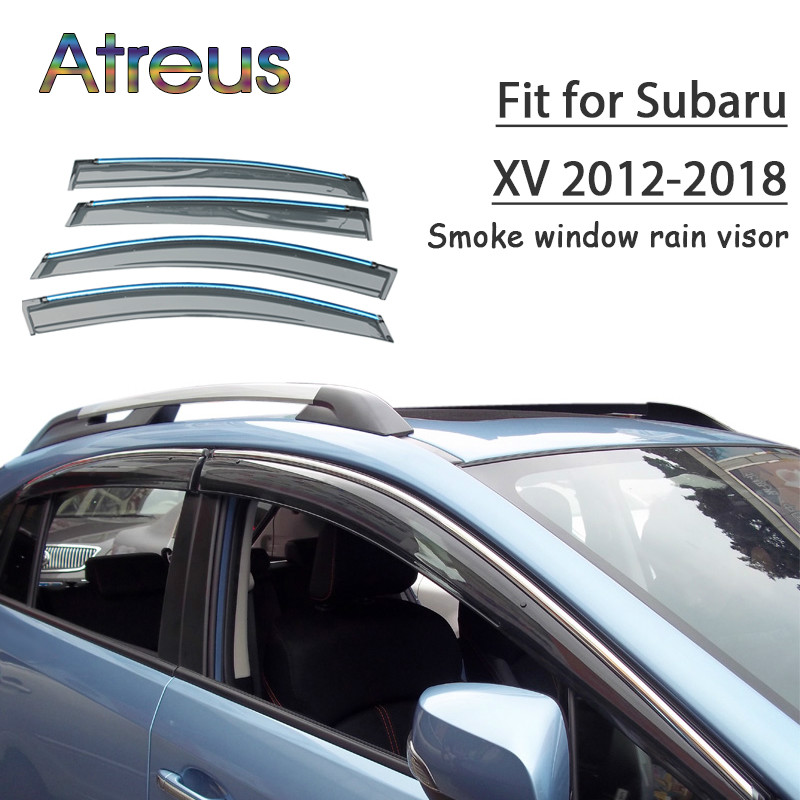 все цены на Atreus 1set ABS For 2018 2017 2016 2015 2014-2012 Subaru XV Accessories Car Vent Sun Deflectors Guard Smoke Window Rain Visor онлайн