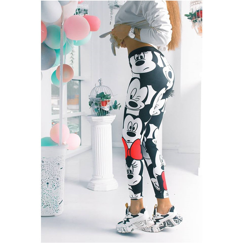 Women Minnie Mickey Gym Leggings Athletic Women Sport Clothing Workout Femme Mujer Running Sportwear Fitness Mickey Pants