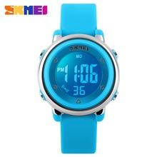 Skmei nueva moda deportes niños reloj 1100 relojes digitales a prueba de agua calendario completo reloj de alarma luz de fondo digital