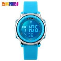 SKMEI New Fashion Sports Children Watch 1100 Digital Watches Waterproof Alarm Back Light Digital Complete Calendar